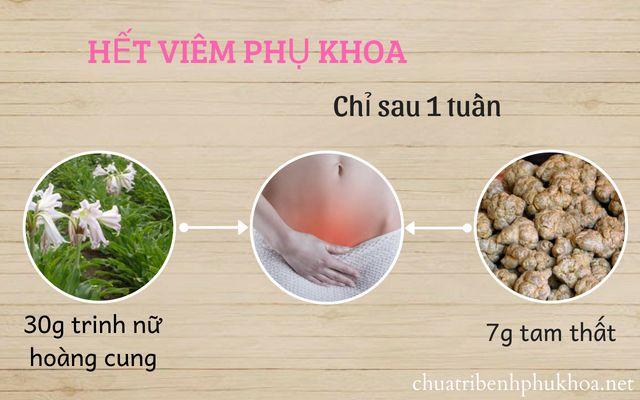 Bệnh viêm nhiễm phụ khoa và cách điều trị bằng cây trinh nữ hoàng cung