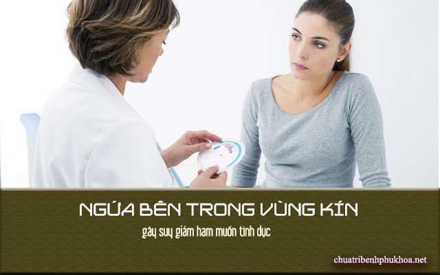 Ngứa bên trong vùng kín gây viêm nhiễm phụ khoa