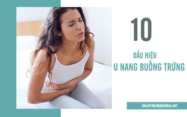 10 dấu hiệu giúp chị em sớm nhận biết u nang buồng trứng