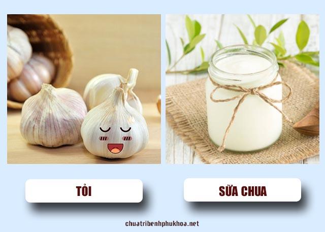 tỏi và sữa chua để điều trị bệnh viêm phụ khoa