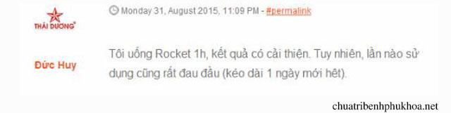 Người dùng đánh giá sản phẩm Rocket 1h
