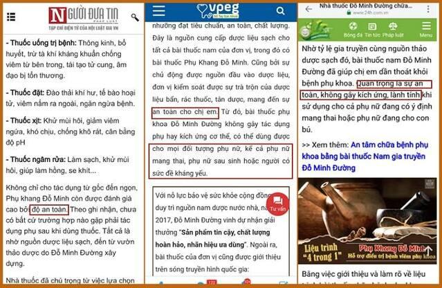 Báo chí đưa tin bài thuốc Phụ Khang Đỗ Minh được kiểm chứng an toàn với cơ địa mọi phụ nữ Việt