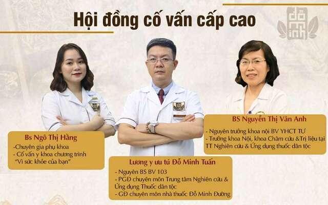 Hội đồng cố vấn cấp cao tham gia vào quá trình phục dựng và tối ưu lại bài thuốc Phụ Khang Đỗ Minh