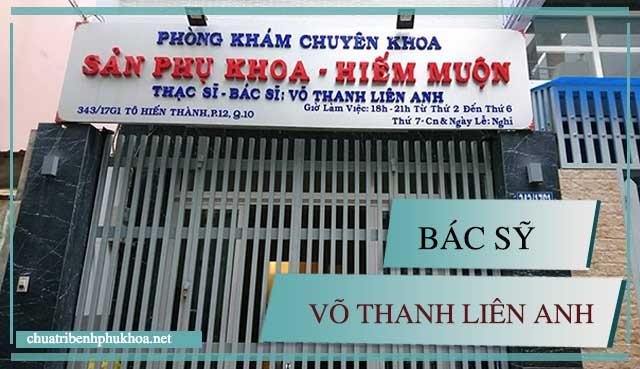 Phòng khám phụ khoa ngoài giờ ở TP HCM của bác sỹ Võ Thanh Liên Anh
