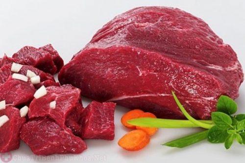 Thịt có màu đỏ tươi nên kiêng sau khi mổ u xơ tử cung