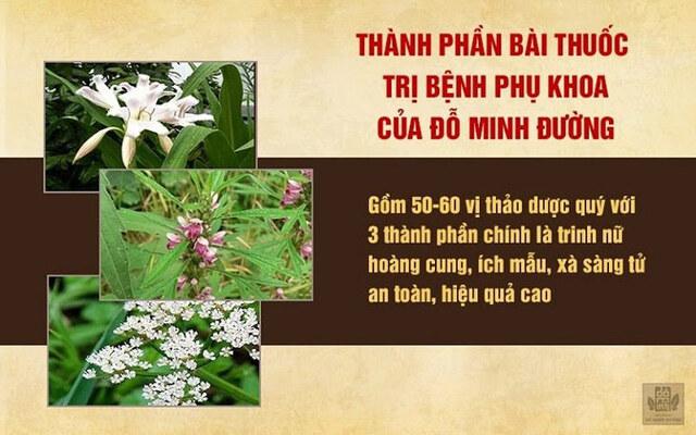 Bài thuốc Phụ Khang Đỗ Minh được kết hợp từ những thảo dược hàng đầu