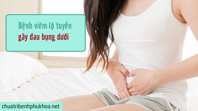Đau bụng dưới - Triệu chứng viêm lộ tuyến cổ tử cung