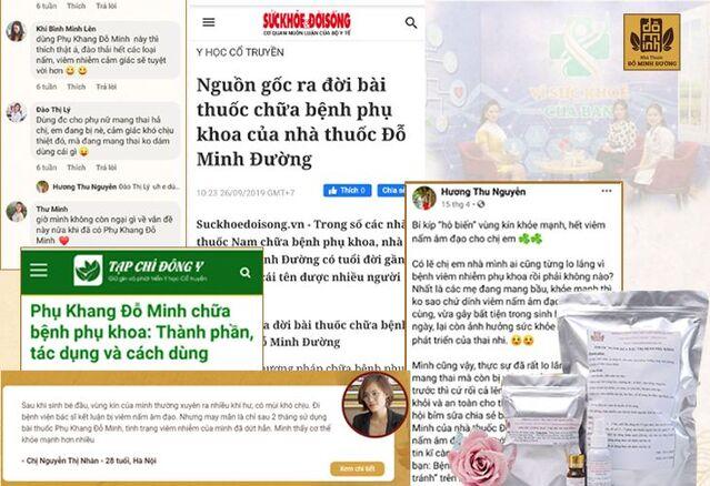 Báo chí và truyền thông quan tâm đến bài thuốc Phụ Khang Đỗ Minh