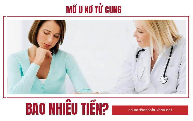 mổ u xơ tử cung bằng phương pháp nội soi bao nhiêu tiền