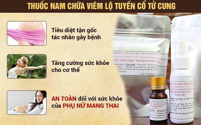 Bài thuốc chữa bệnh viêm lộ tuyến cổ tử cung Đỗ Minh Đường