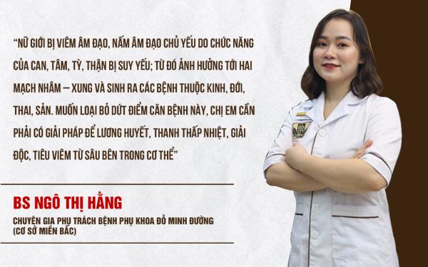 Bác sĩ Ngô Thị Hằng tư vấn bệnh viêm âm đạo theo cách nhìn của Đông y